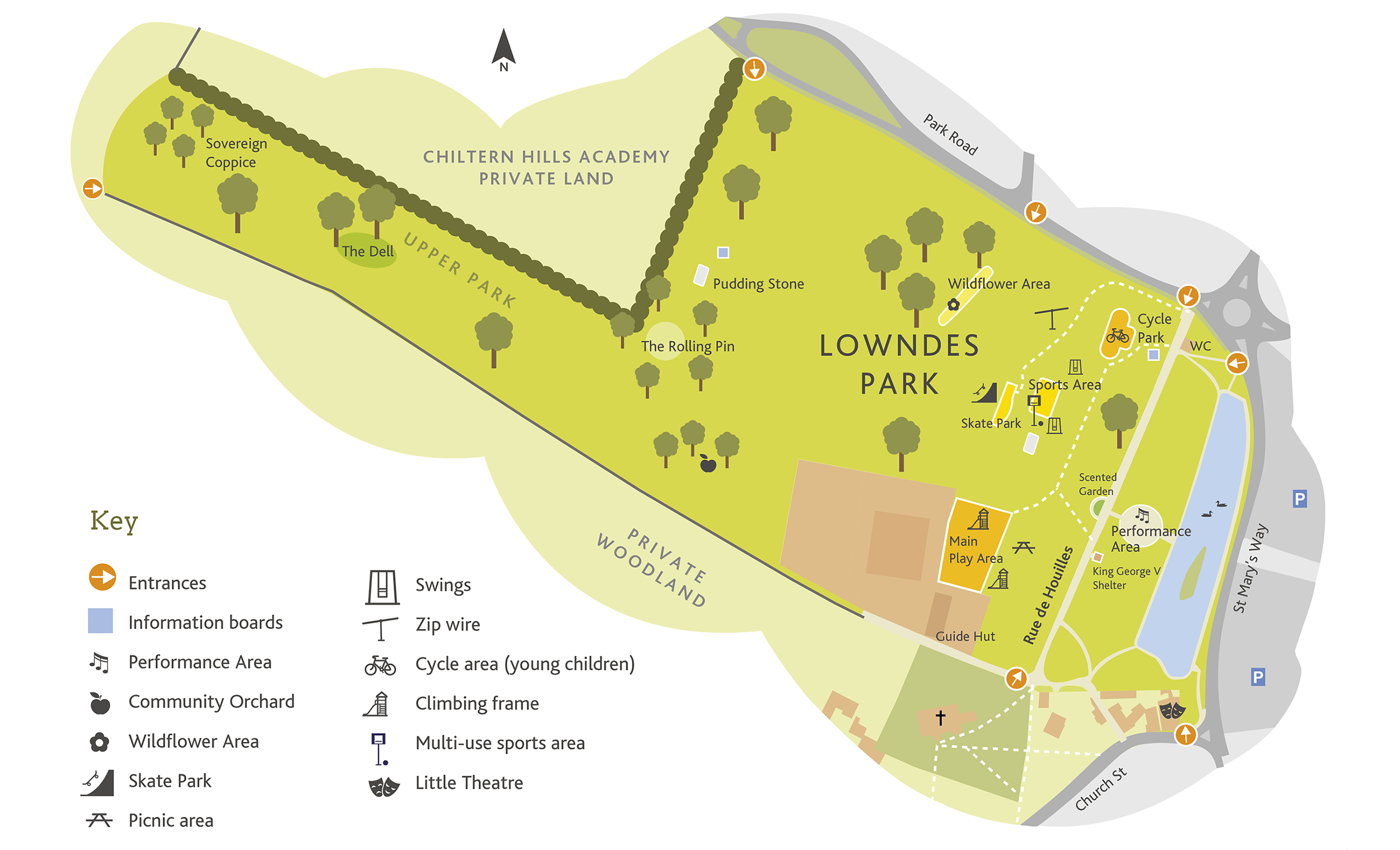 Lowndes Park map